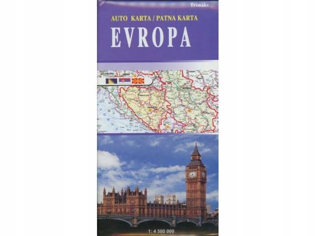 EUROPA EUROPE mapa samochodowa TRIMAKS 1:4 500 000