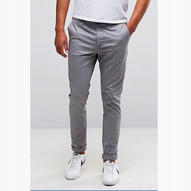 Spodnie ASOS Heavy Chino Jeans Skinny Leg r34/32
