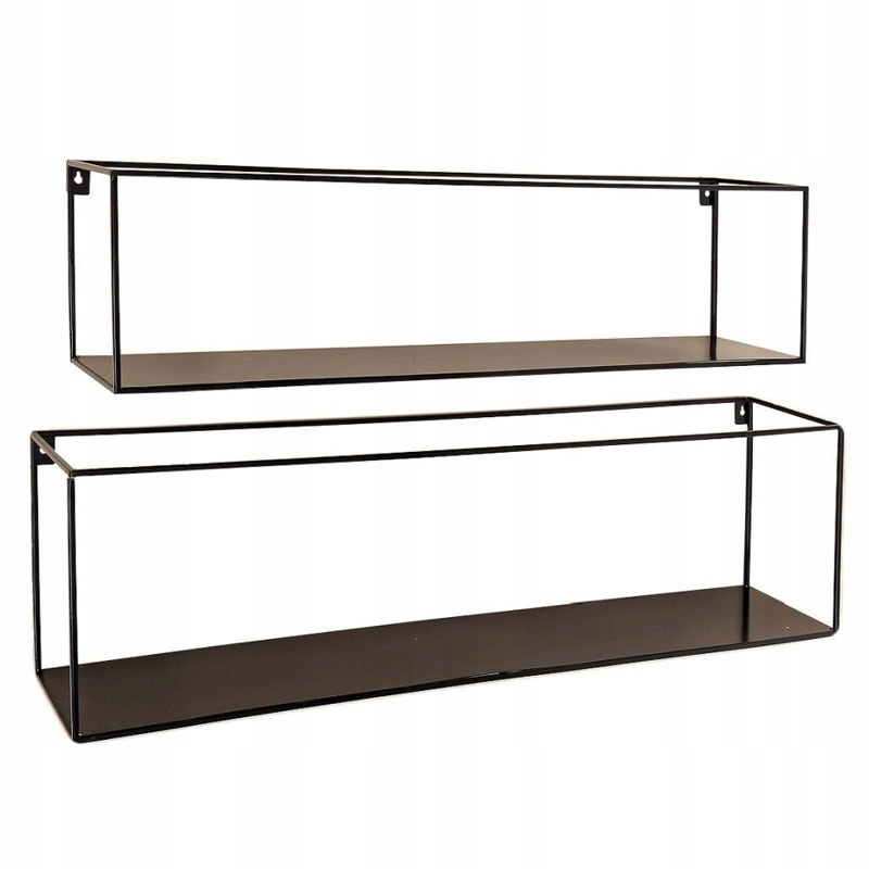 Metalowe Półki Na ścianę Para Minimalizm Metalowe