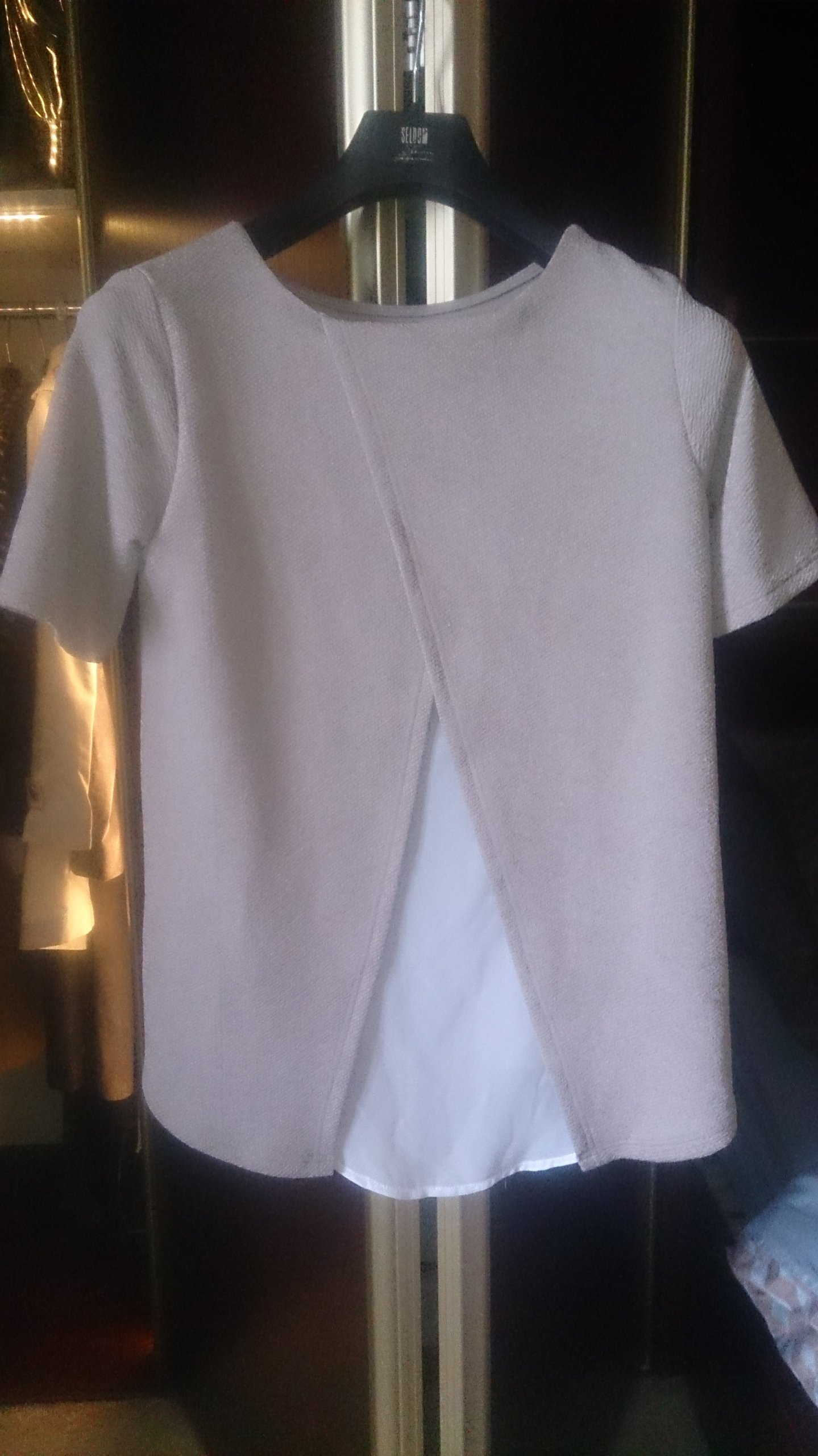 398fe4a32a3caf bluzka zwiewna delikatna ze wstawką r 36 - 7755374021 - oficjalne ...
