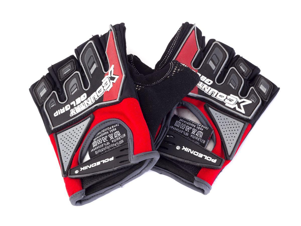 Rękawiczki rowerowe X-COUNTRY kolor czerwony XL