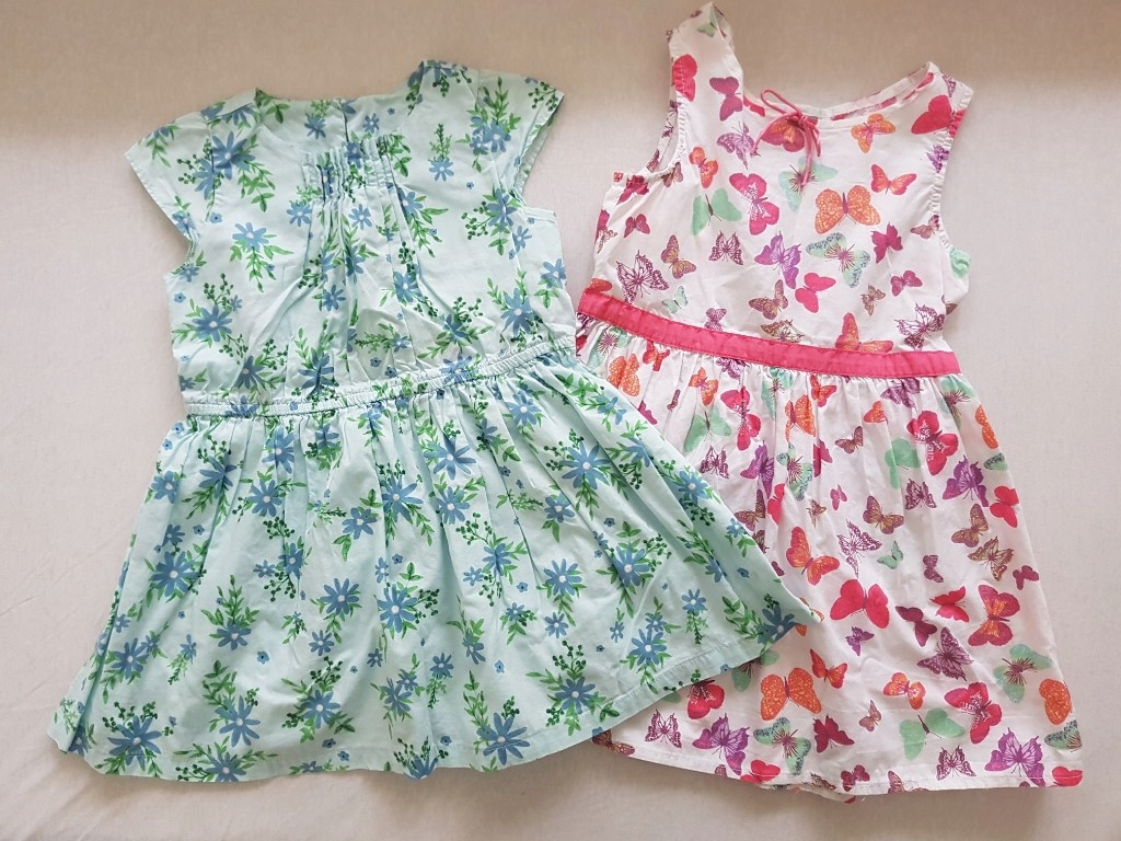 Sukienka na lato 2szt c&a r98 h&m r104