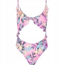 F1* River Islan Pink floral knot front 34 uk 8