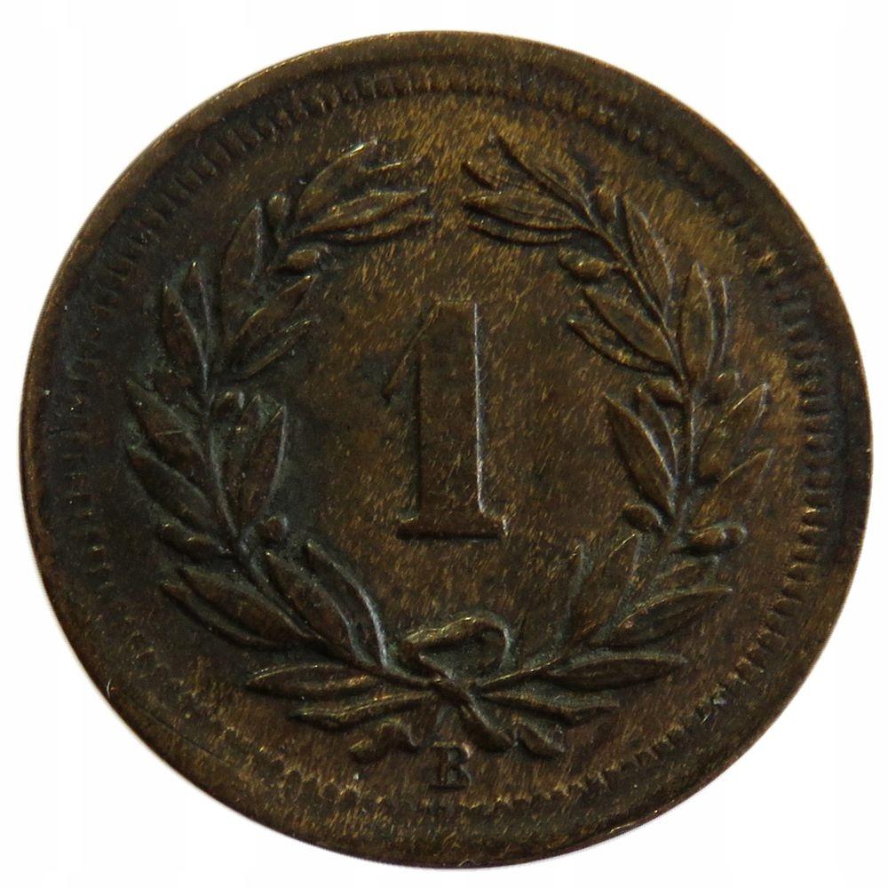 1 Rappen 1877 B - Szwajcaria