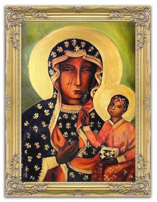 OBRAZ MARYJA CZĘSTOCHOWSKA MADONNA CZARNA + RAMA