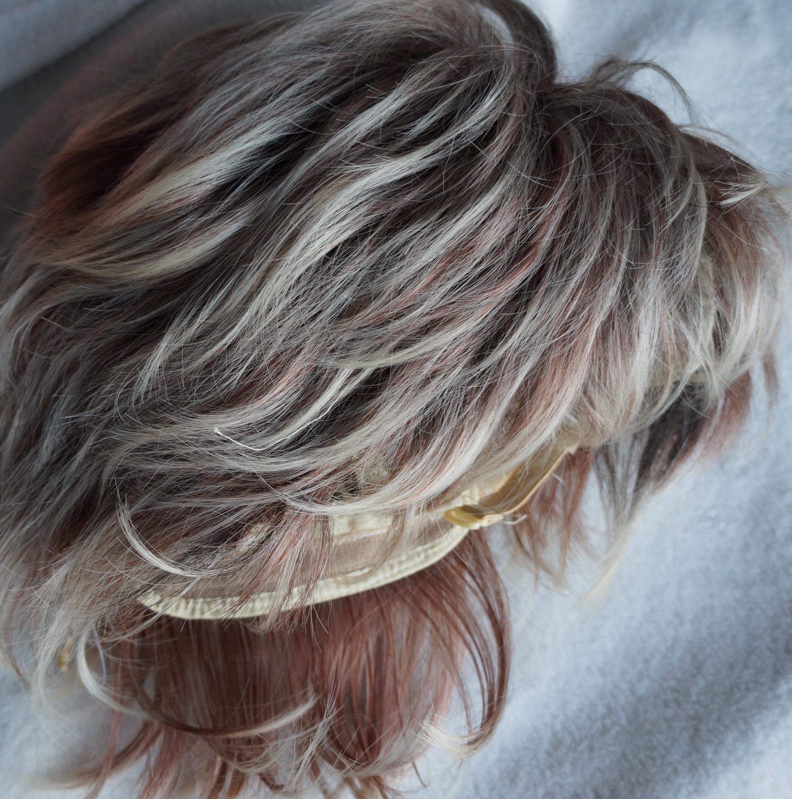 Peruka Włosy Blond Pasemka Krótka Fryzura 7248230865 Oficjalne