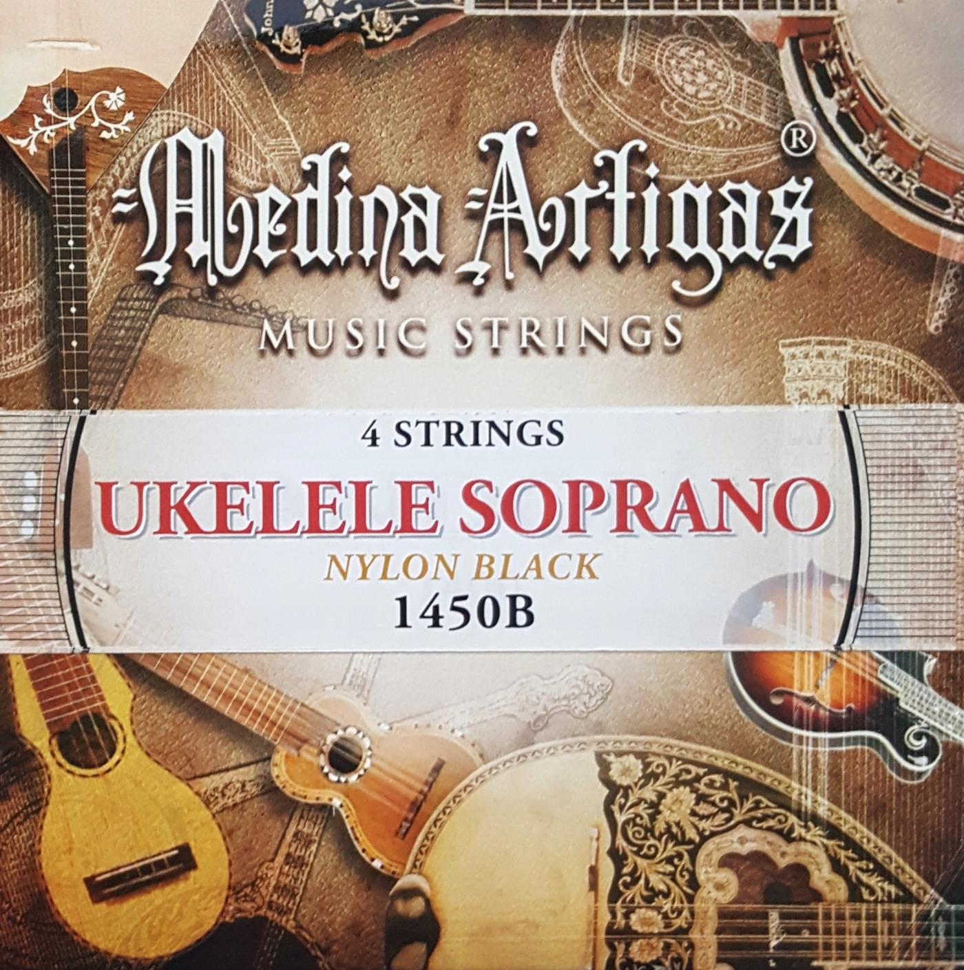 Medina Artigas 1450B - struny ukulele NYLON Czarne