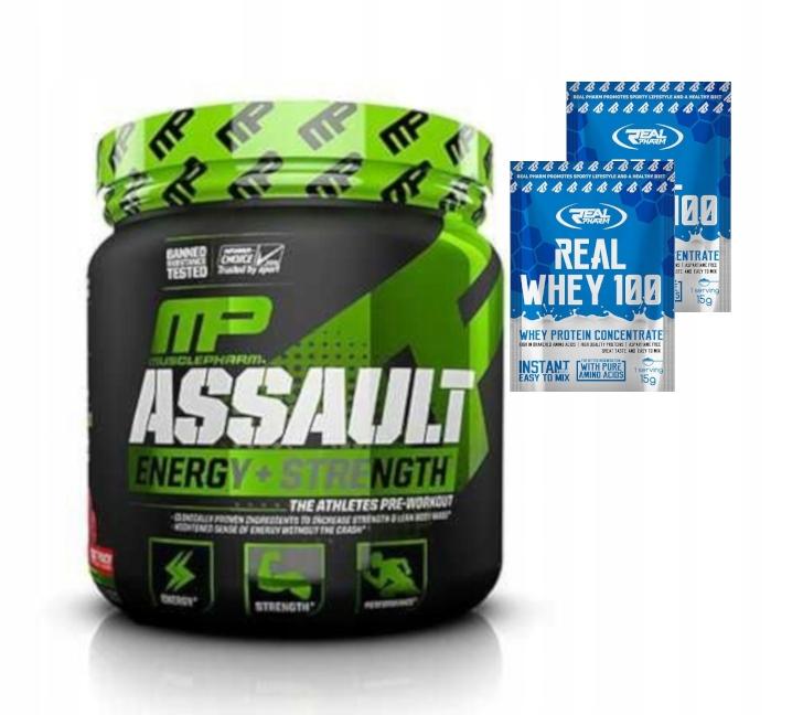 Muscle pharm Assault Sport 345g wytrzymałość +free