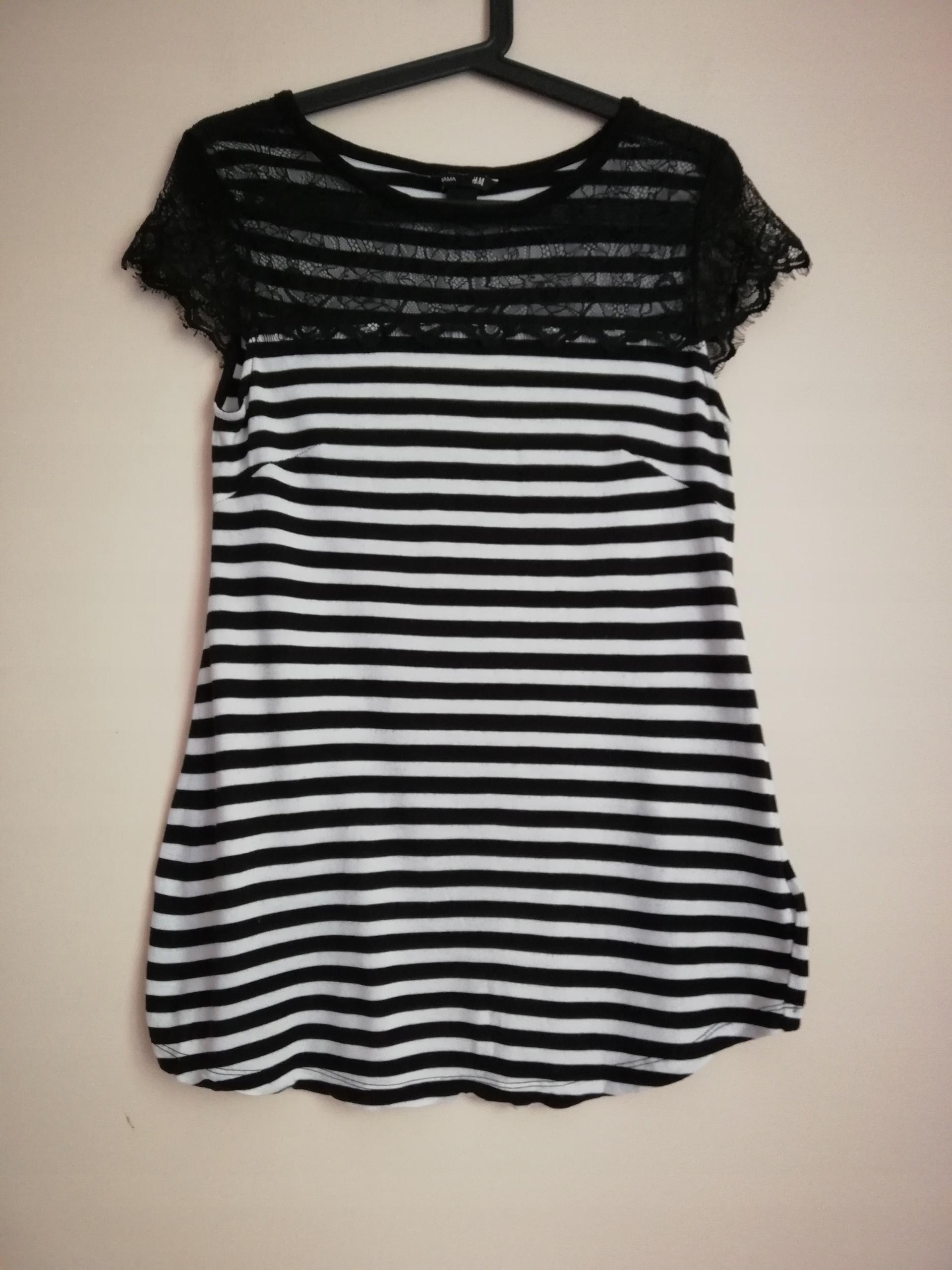 H&M Mama Bluzka koszulka ciążowa koronka M