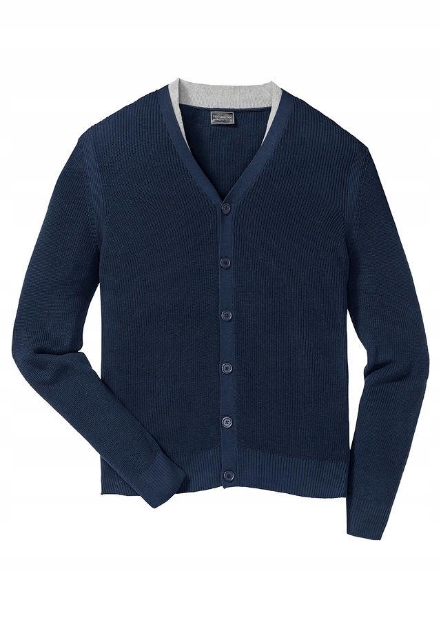 Sweter rozpinany Regula niebieski 52/54 (L) 950198