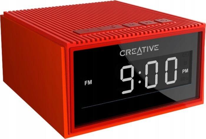Creative Chrono głośnik BT radio budzik czerwony