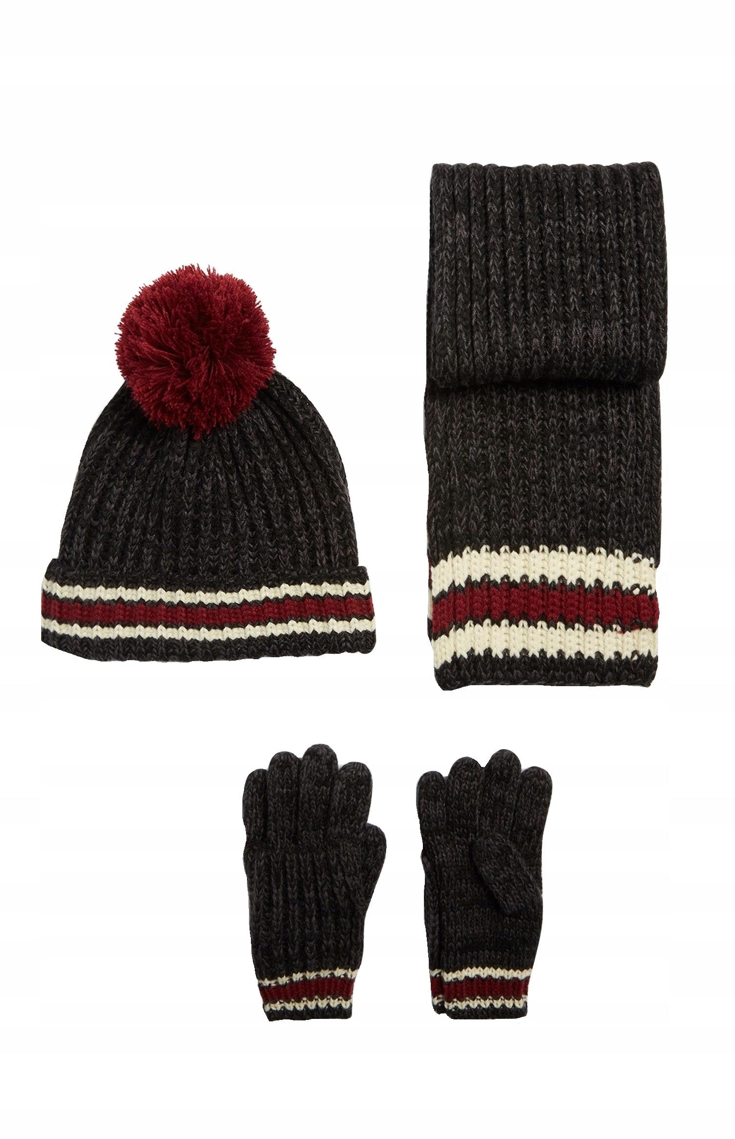Rebel komplet 3 - 6 lat szalik czapka rękawiczki