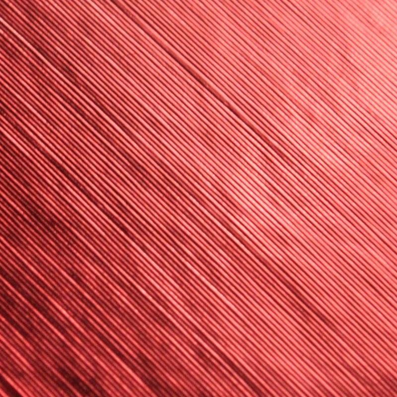 Folia odcinek błyszcz szczotkowana czerwo1,52x0,1m
