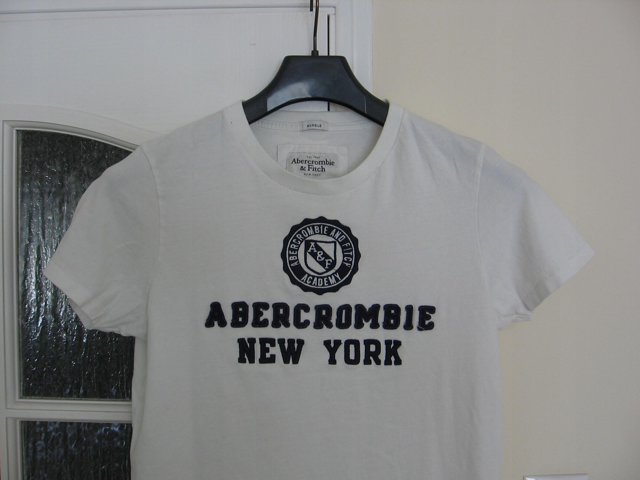 bawełniany t-shirt ABERCROMIE&FITCH __ M