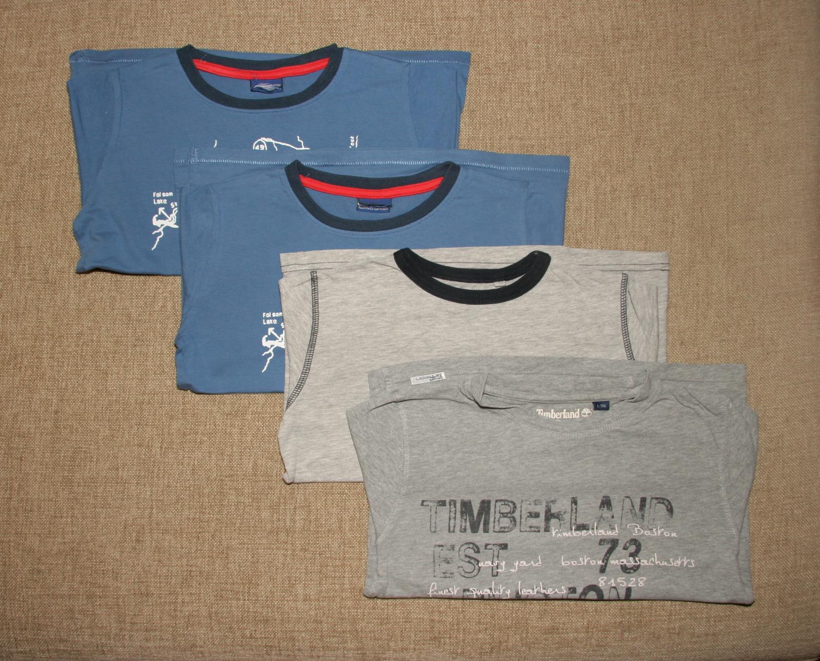 4 x koszulka t-shirt z długim rękawem 116cm