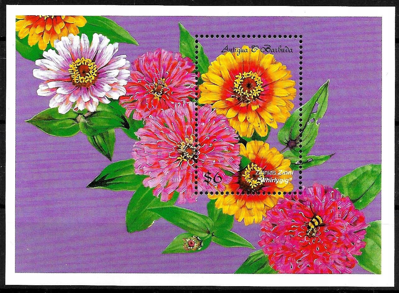 FL889 1999 FLORA kwiaty bl.** Antigua & Barbud