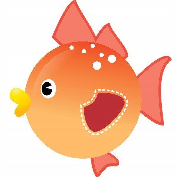 Ruda ryba 10 x 10 cm naklejka ścienna dziecka