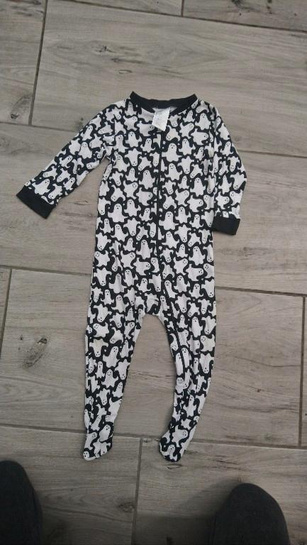 piżama śpiochy czarne duchy h&m 80 na zamek