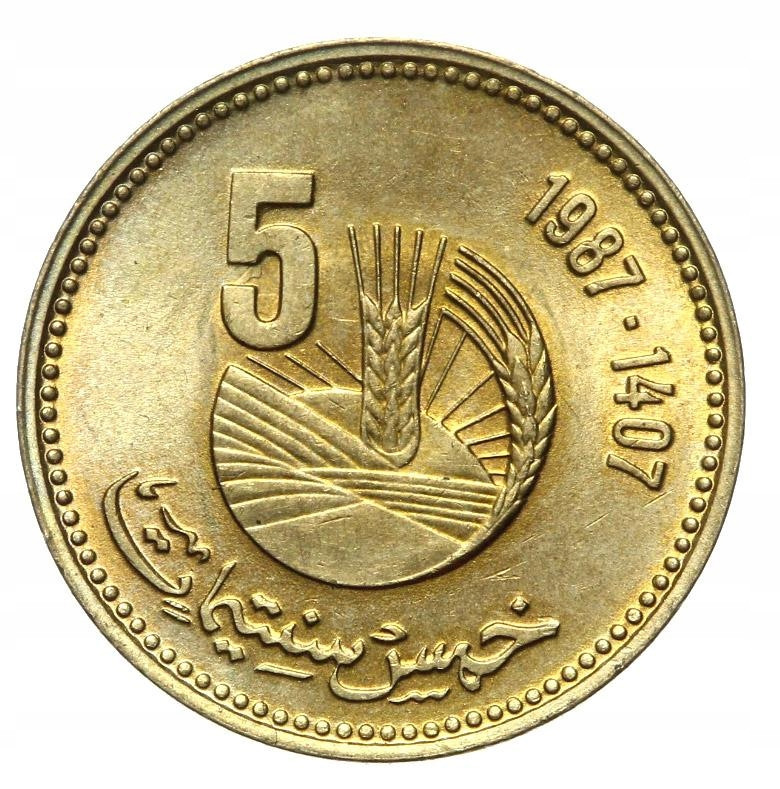 Maroko - moneta - 5 Santimat 1987