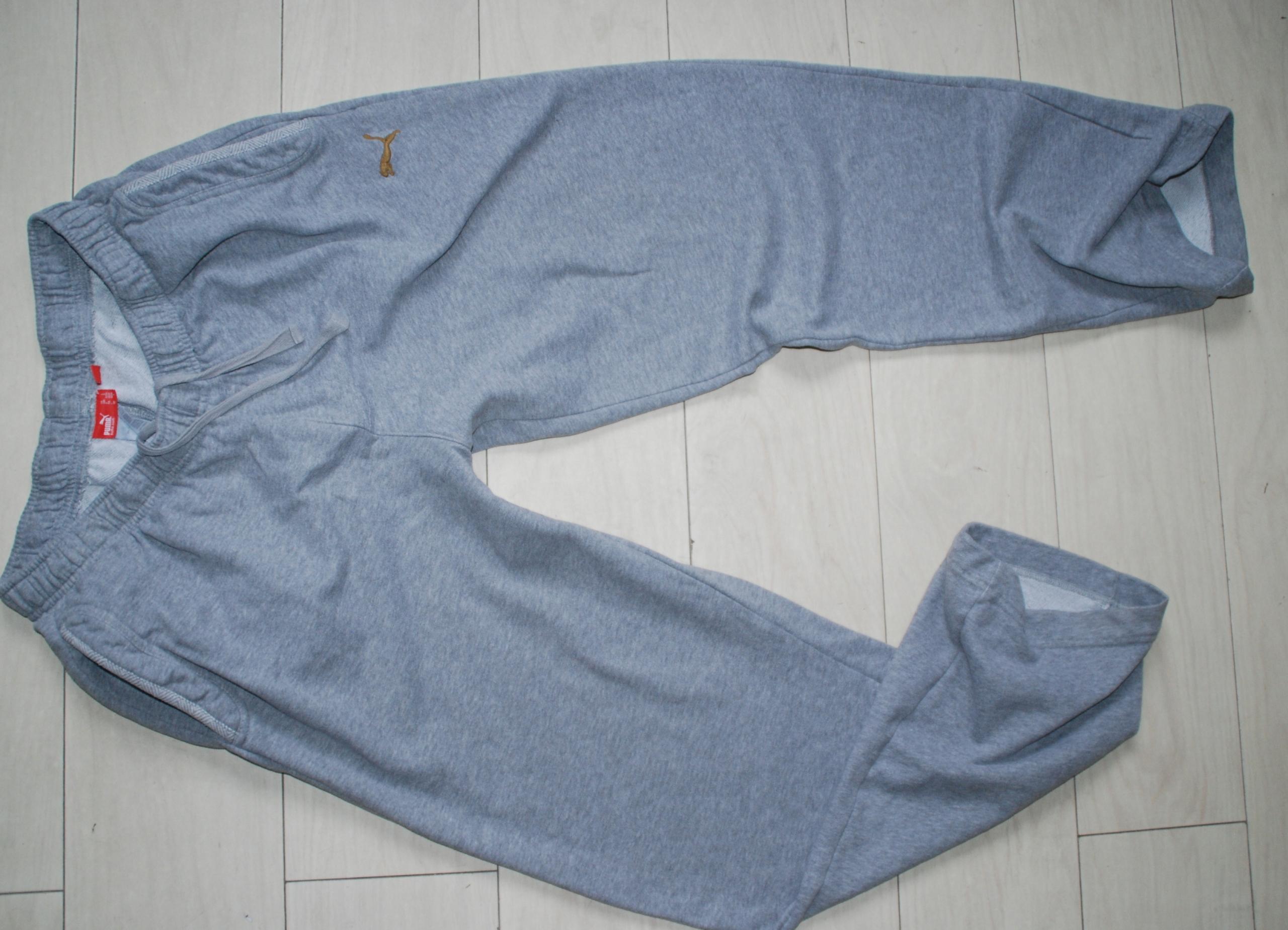 PUMA _ L _ szare spodnie dresowe bawełniane bdb