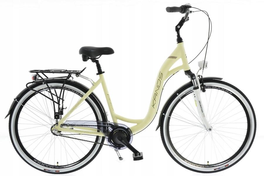 Rower miejski Kands Wenecja Kremowy Shimano Nexus