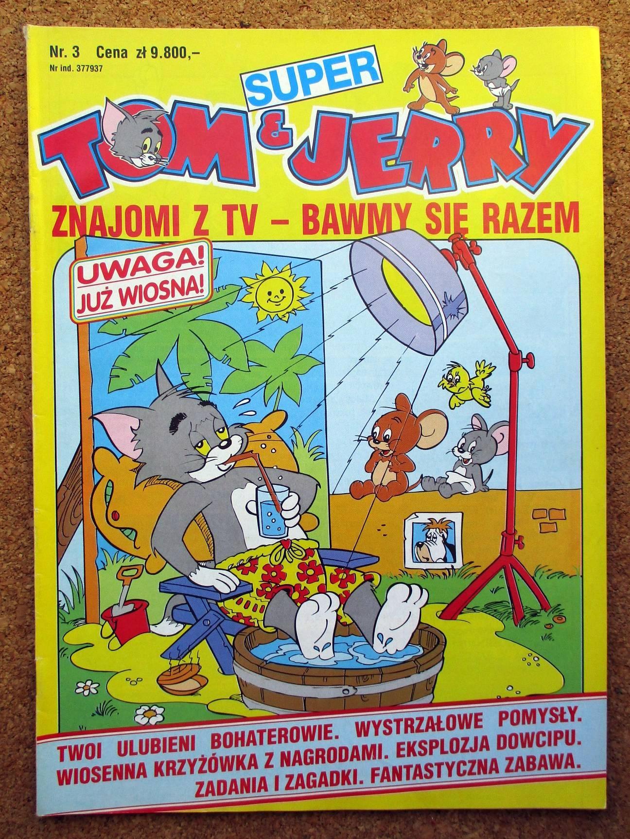 SUPER TOM & JERRY 3 STAN BDB A4 KOMIKS I