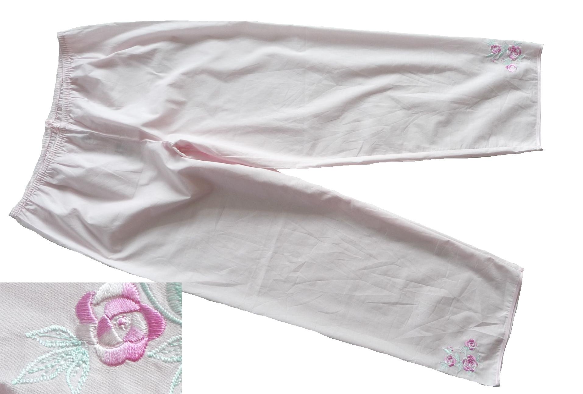 M&S Spodnie od piżamy 42 cienkie, haft 8a519