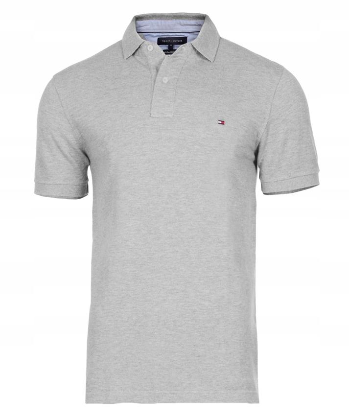Koszulka Polo -TOMMY HILFIGER - roz. XXL szara