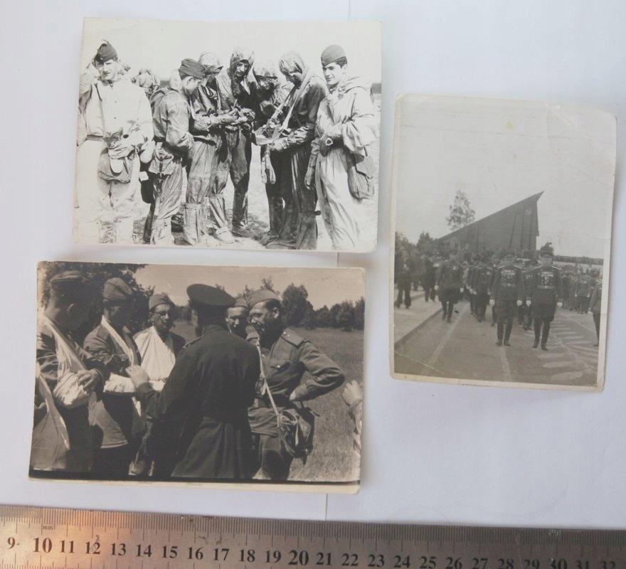 3 x Stara fotografia żołnierze wojsko Rosja ZSRR