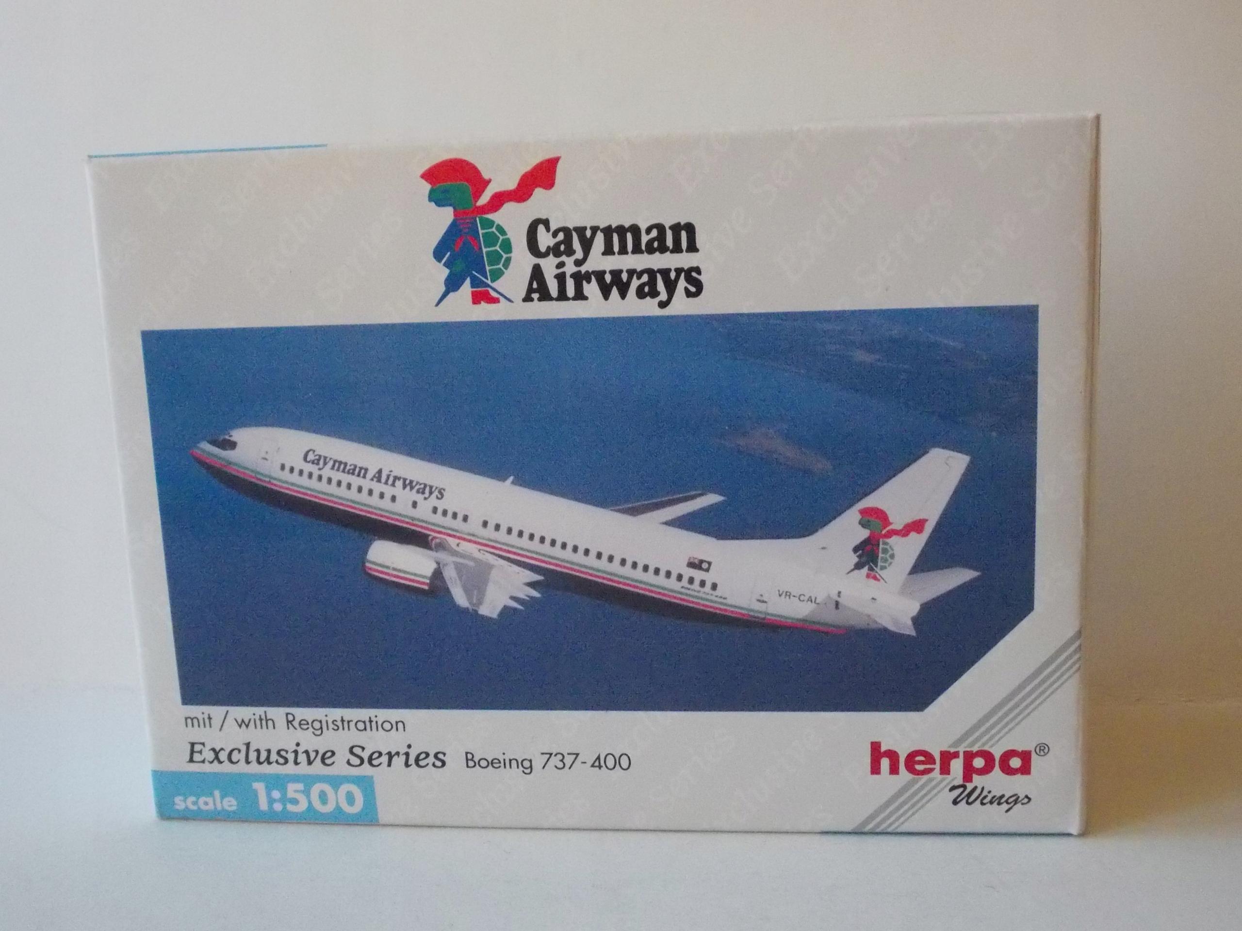 BOEING 737-400 / CAYMAN AIRWAYS /- HERPA 1:500
