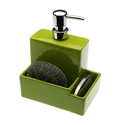 508F37 Dozownik mydła Versa z uchwytem na gąbkę