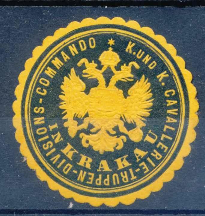1910 MAŁOPOLSKA, KRAKÓW, zalepka austriacka.