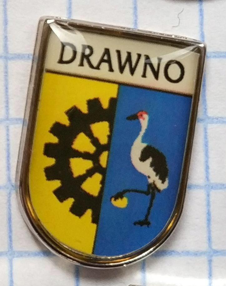 Odznak Herb Drawno heraldyka