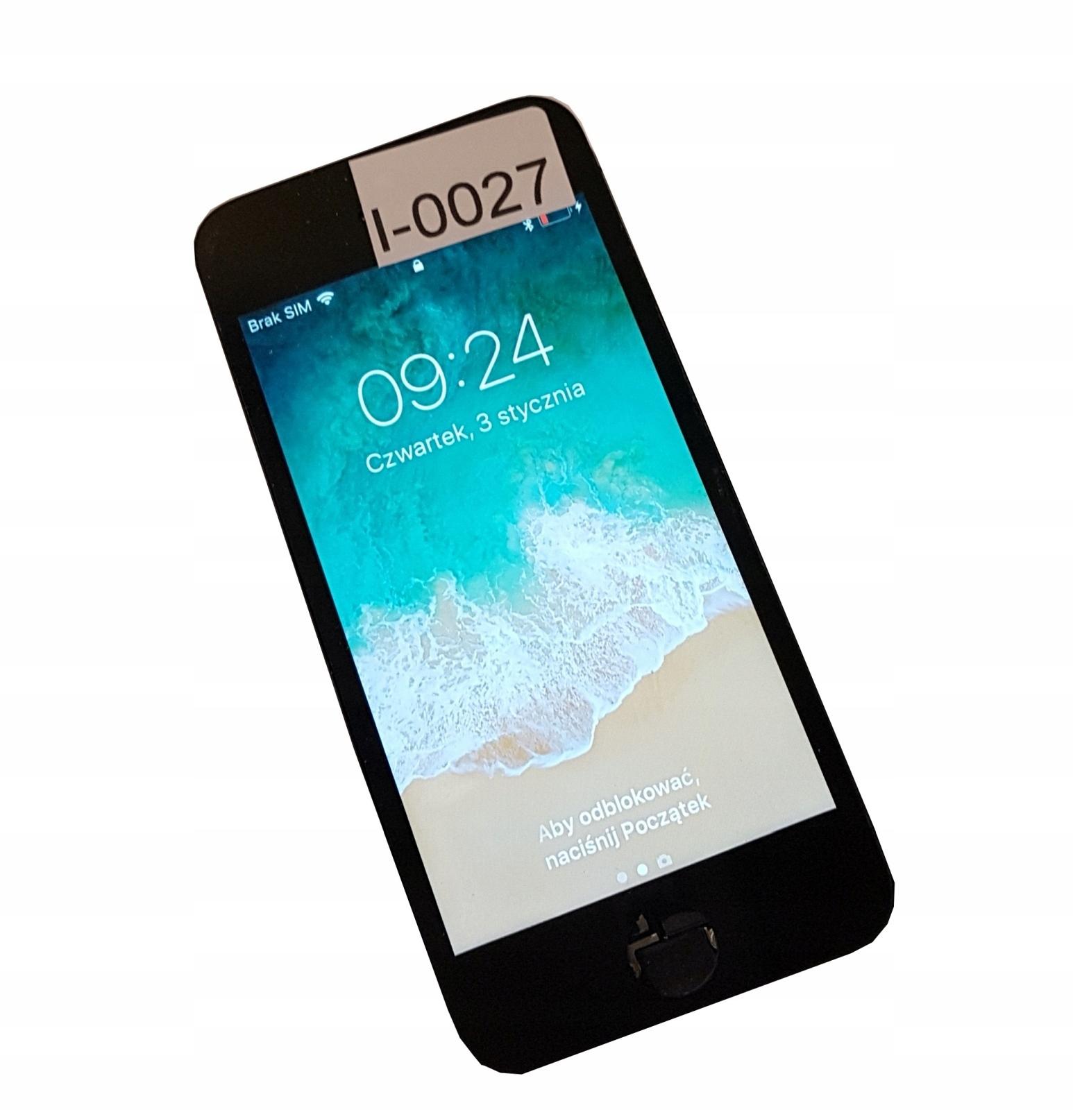 Wyświetlacz LCD iPhone z demontażu 5S Czarny I0027