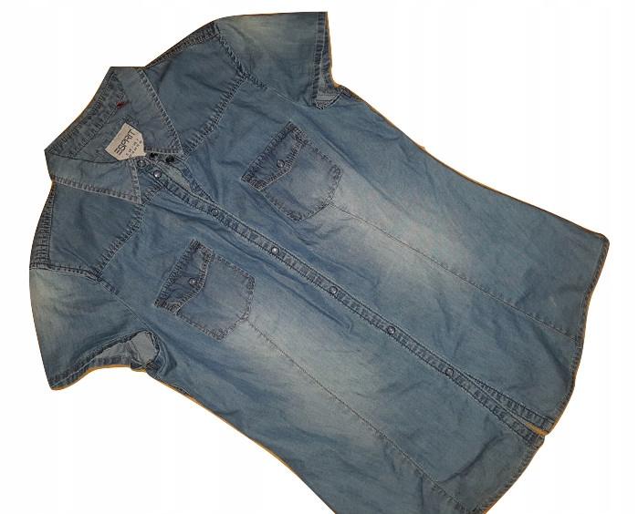 $K_ESPRIT - jeansowa koszula - ROZM.L