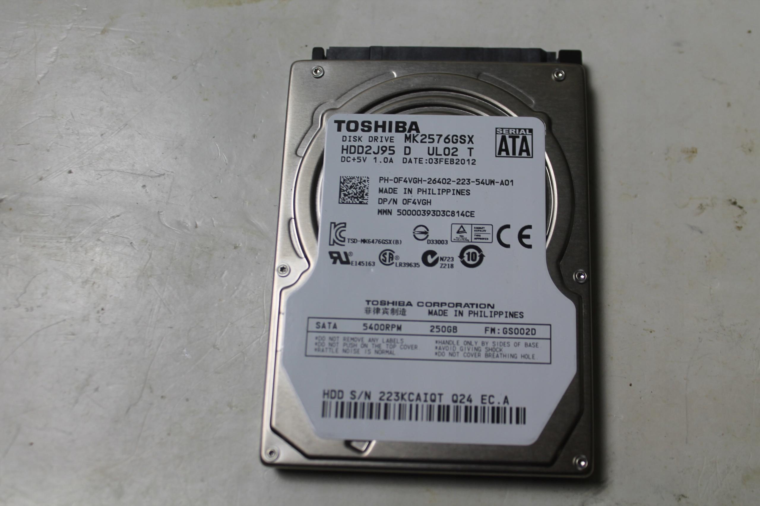 Toshiba 250GB 5400RPM