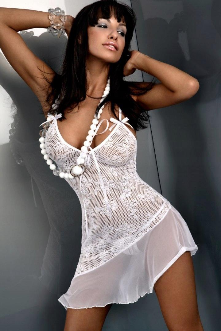 Koszulka Inez biała + stringi GRATIS
