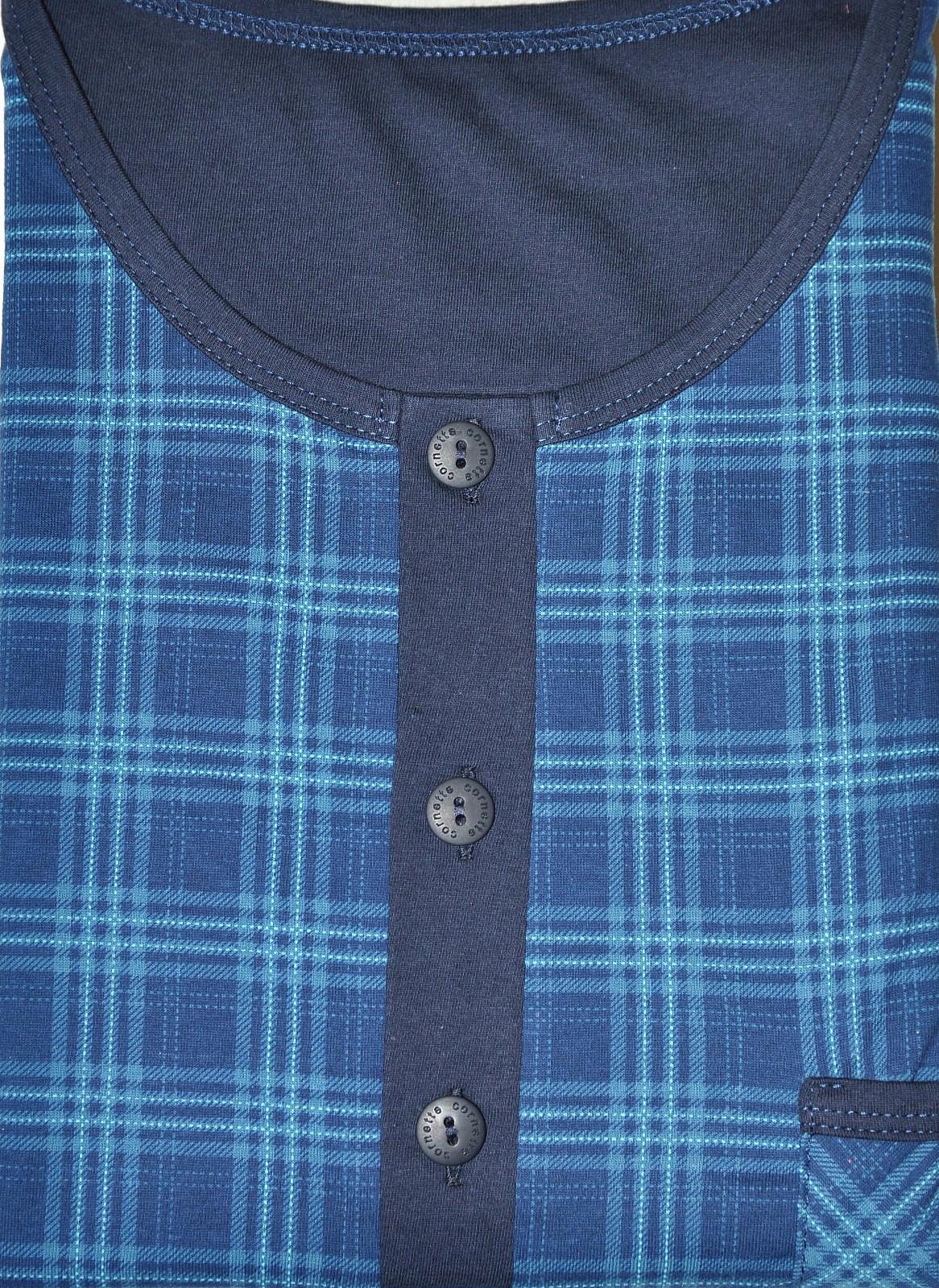 Koszula Nocna Męska Cornette Roz.L Krótki Rękaw