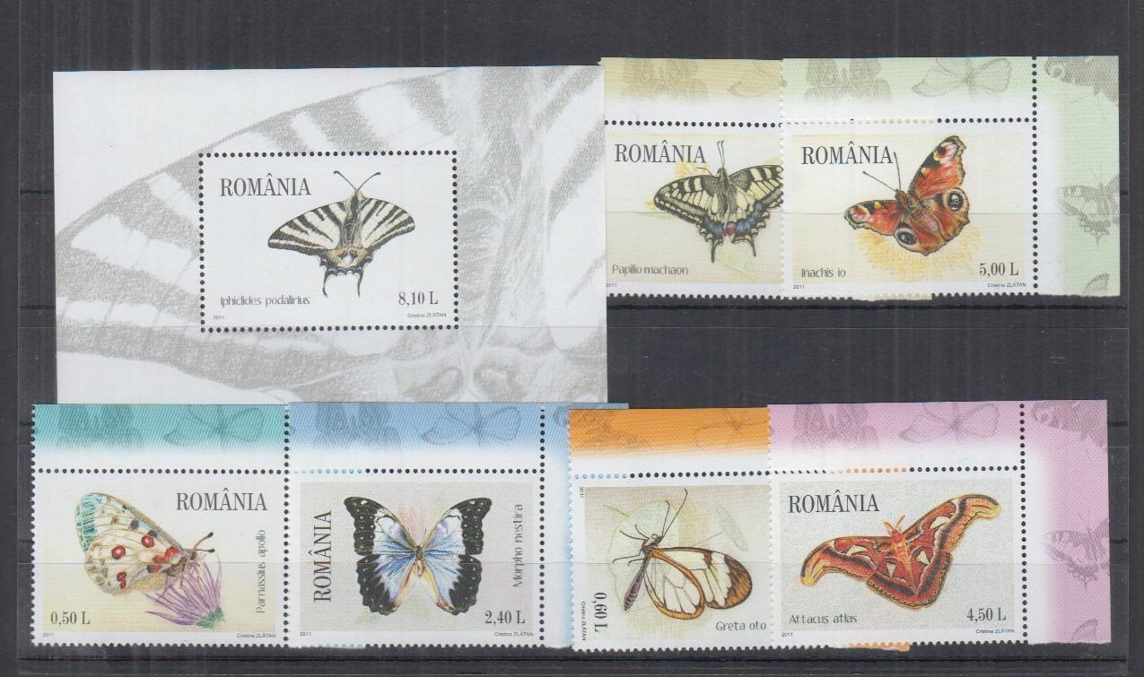 Z45. MNH Romania Natura Fauna Owady Motyle