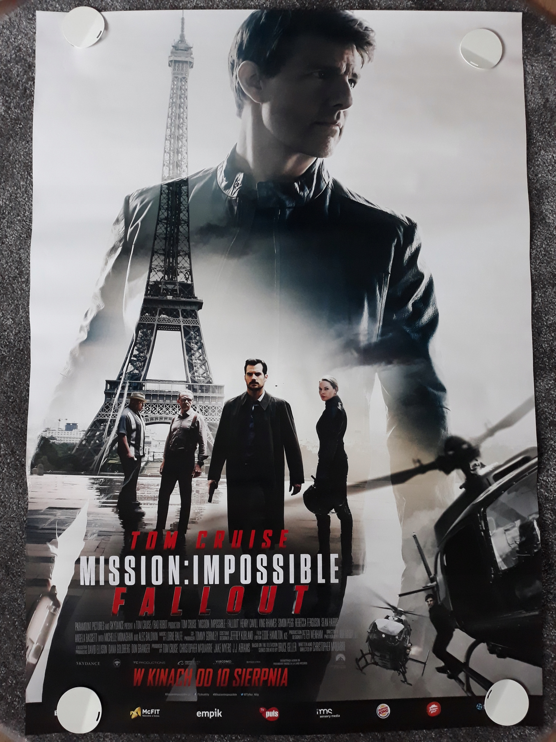 Mission Impossible Fallout Plakat Filmowy 7462299484