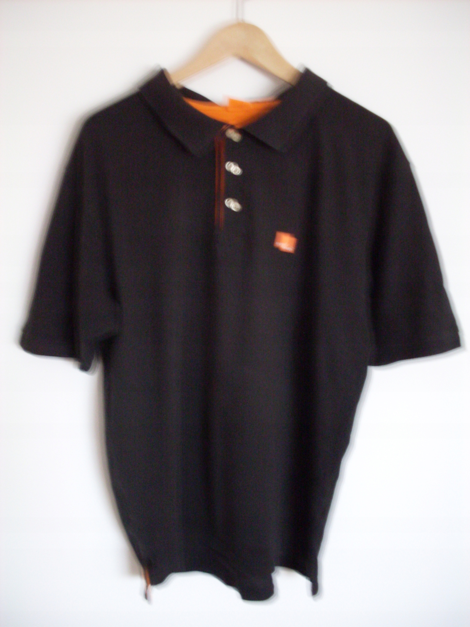 T-SHIRT / KOSZULKA POLO / ORANGE / M