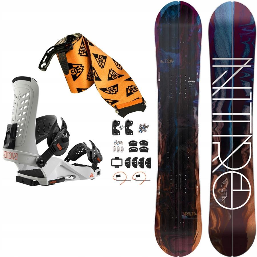 Damski SET splitboard NITRO Volta 151 +wiąz +foki