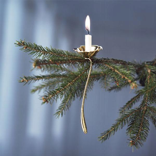 Świecznik świąteczny zawieszany Rosendahl złoto