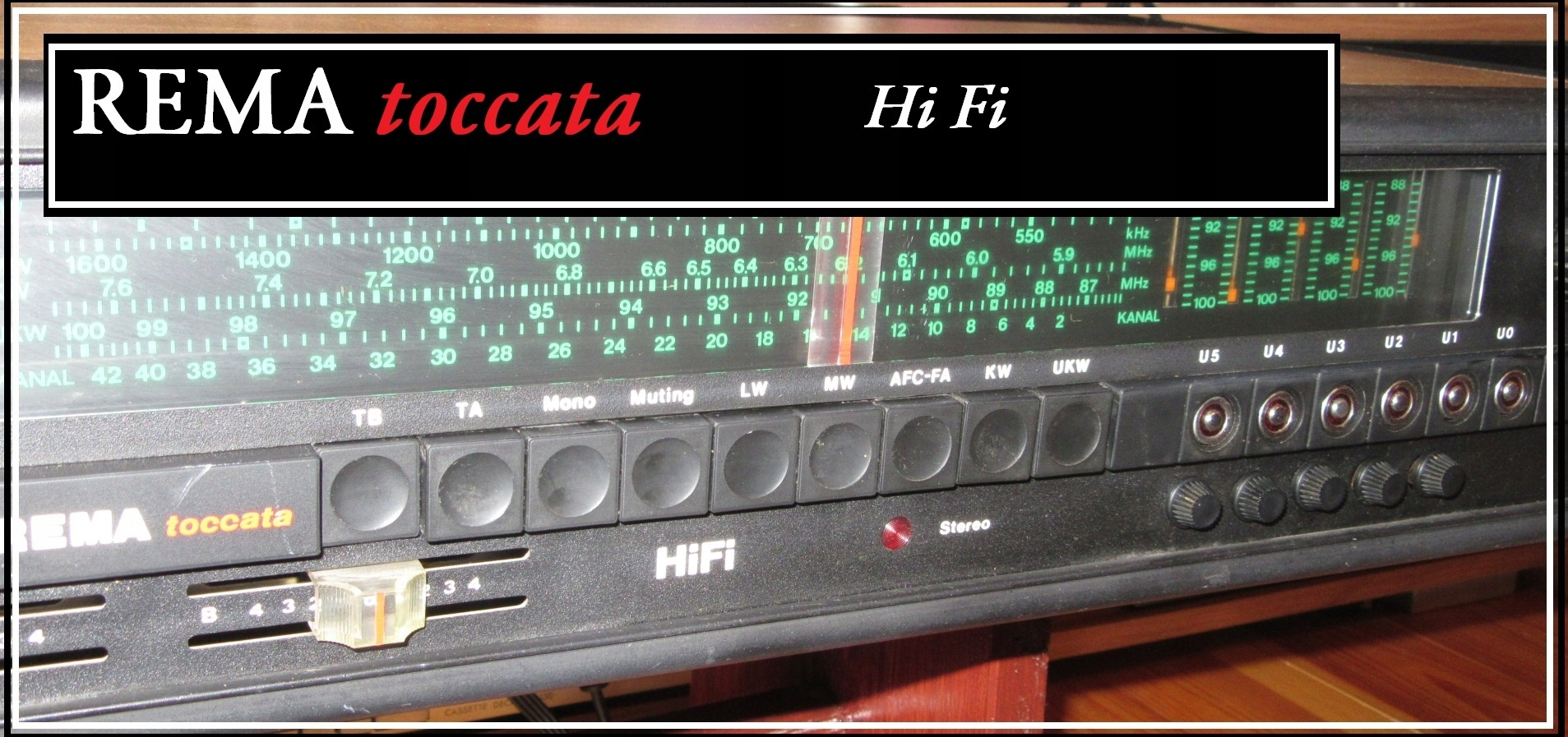 Amplituner RFT REMA Toccata 940 Hi Fi