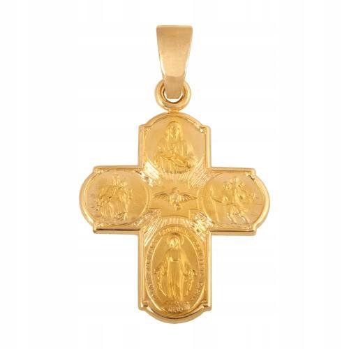 Krzyżyk złoty na PREZENT pr 585 47942