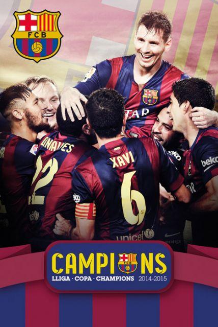 Barcelona - Potrójne Mistrzostwo - plakat