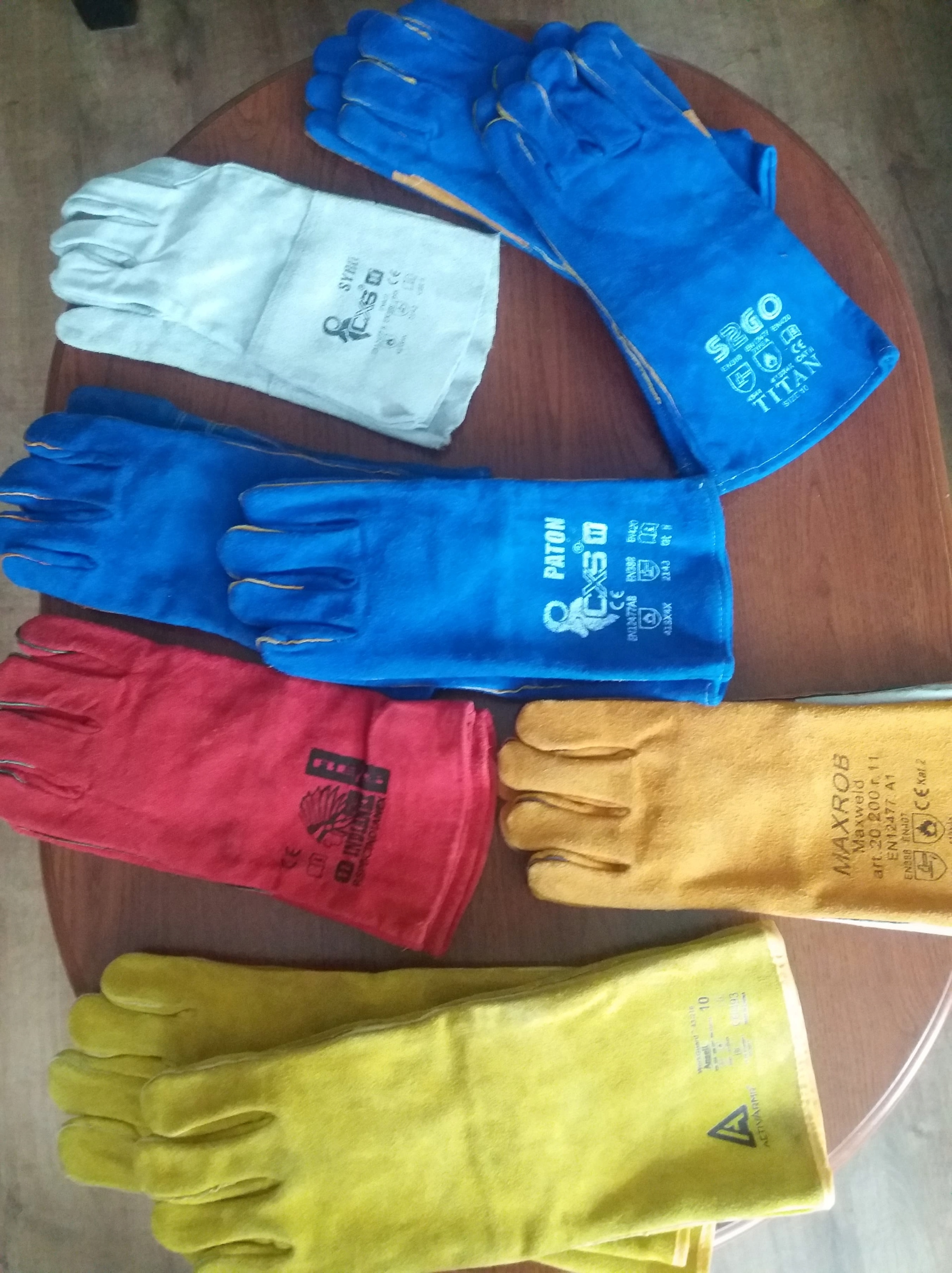 Rękawice spawalnicze 9par NAJTANIEJ + GRATIS