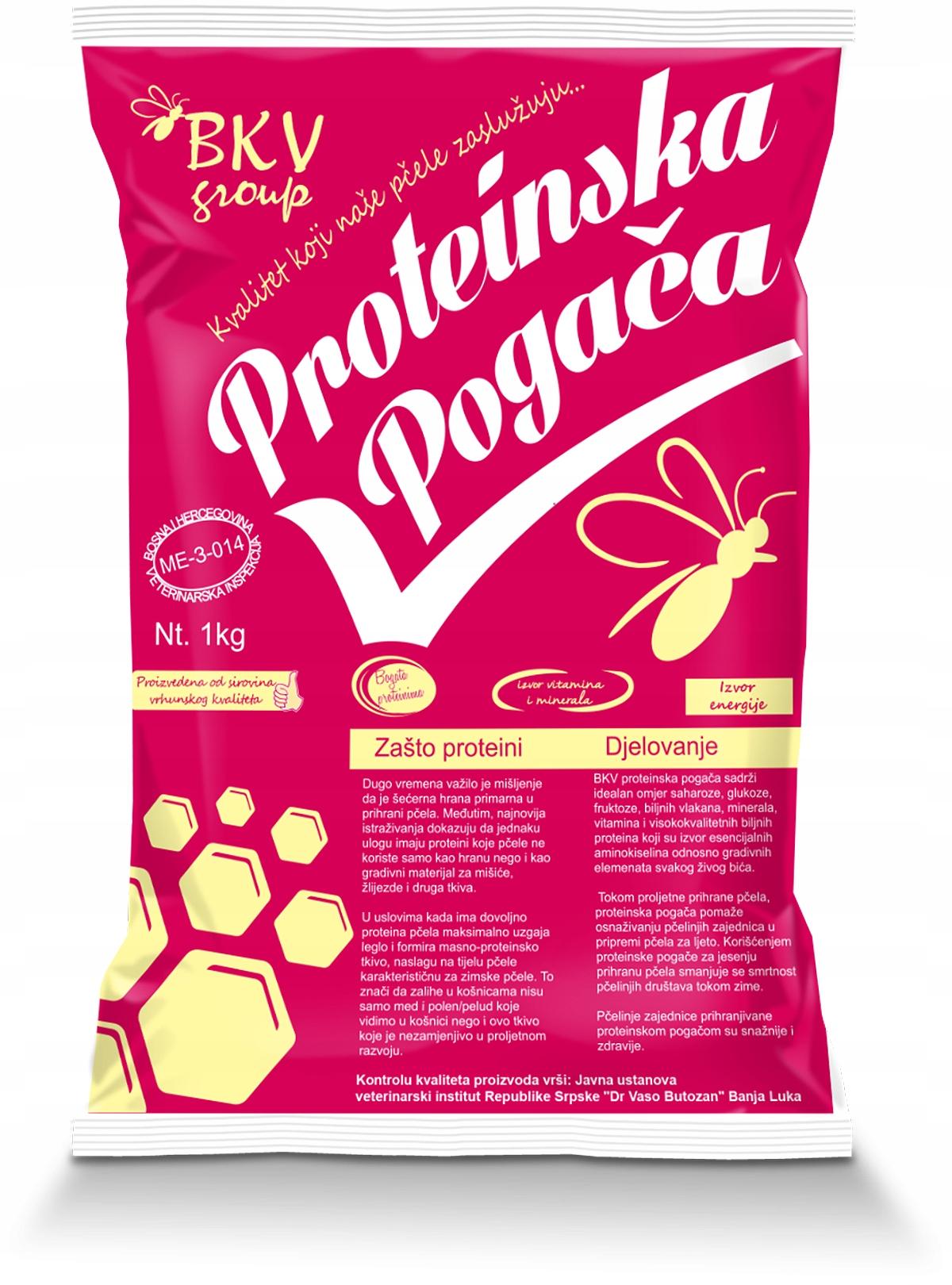 Pokarm ciasto dla pszczół z proteinami BKV 15kg