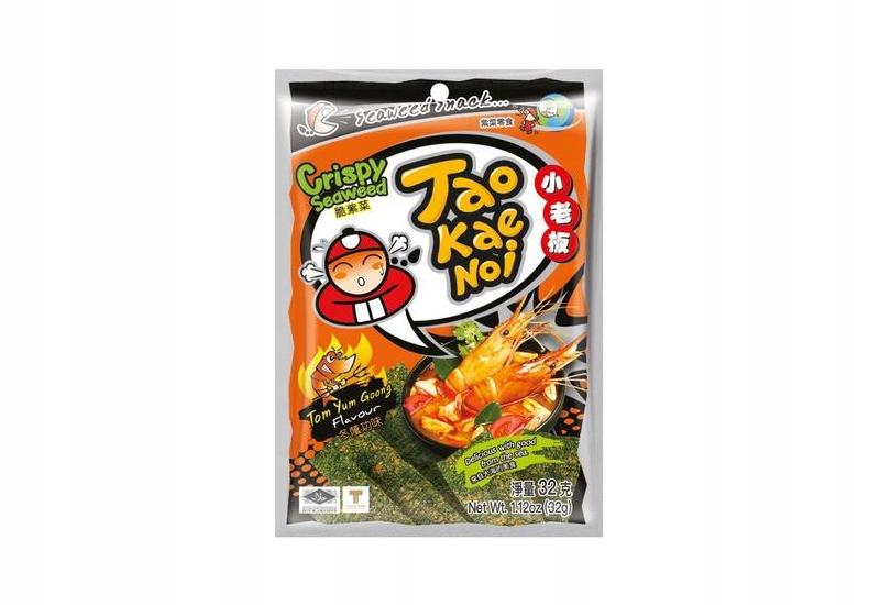 Chipsy TAOKAENOI z wodorostów Tom Yum Goong