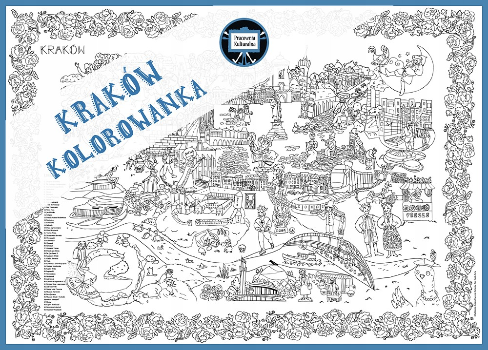 PROMOCJA !!! Krakowska kolorowanka wielkoformatowa